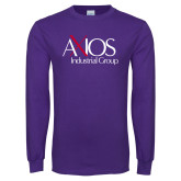 Purple Long Sleeve T Shirt-AXIOS Industrial Group