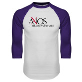 White/Purple Raglan Baseball T Shirt-AXIOS Industrial Maintenance
