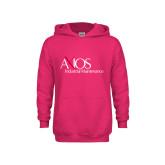 Youth Raspberry Fleece Hoodie-AXIOS Industrial Maintenance