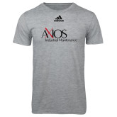 Adidas Sport Grey Logo T Shirt-AXIOS Industrial Maintenance