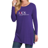 Ladies Purple Side Slit Tunic-AXIOS Industrial Maintenance