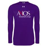 Under Armour Purple Long Sleeve Tech Tee-AXIOS Industrial Group