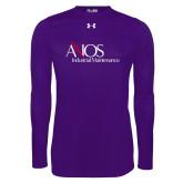 Under Armour Purple Long Sleeve Tech Tee-AXIOS Industrial Maintenance
