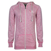 ENZA Ladies Hot Pink Marled Full Zip Hoodie-AXIOS Industrial Group