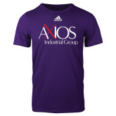 Adidas Purple Logo T Shirt-AXIOS Industrial Group