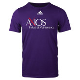 Adidas Purple Logo T Shirt-AXIOS Industrial Maintenance
