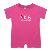 Bubble Gum Pink Infant Romper-AXIOS Industrial Group