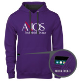 Contemporary Sofspun Purple Hoodie-AXIOS Industrial Group