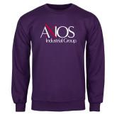 Purple Fleece Crew-AXIOS Industrial Group