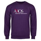 Purple Fleece Crew-AXIOS Industrial Maintenance