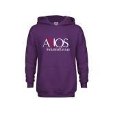 Youth Purple Fleece Hoodie-AXIOS Industrial Group