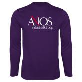 Performance Purple Longsleeve Shirt-AXIOS Industrial Group