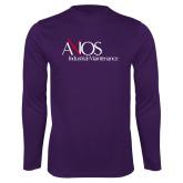 Performance Purple Longsleeve Shirt-AXIOS Industrial Maintenance