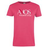 Ladies Fuchsia T Shirt-AXIOS Industrial Group