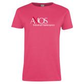 Ladies Fuchsia T Shirt-AXIOS Industrial Maintenance