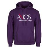 Purple Fleece Hoodie-AXIOS Industrial Group