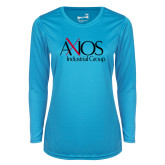 Ladies Syntrel Performance Light Blue Longsleeve Shirt-AXIOS Industrial Group
