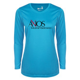 Ladies Syntrel Performance Light Blue Longsleeve Shirt-AXIOS Industrial Maintenance