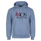 Light Blue Fleece Hoodie-AXIOS Industrial Group