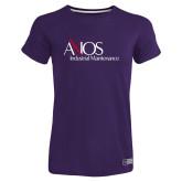 Ladies Russell Purple Essential T Shirt-AXIOS Industrial Maintenance