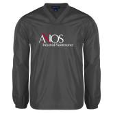 V Neck Charcoal Raglan Windshirt-AXIOS Industrial Maintenance
