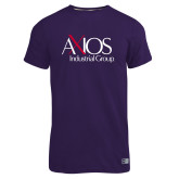 Russell Purple Essential T Shirt-AXIOS Industrial Group