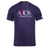 Russell Core Performance Purple Tee-AXIOS Industrial Group