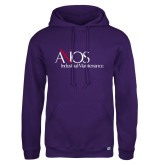 Russell DriPower Purple Fleece Hoodie-AXIOS Industrial Maintenance