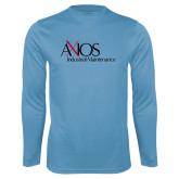Performance Light Blue Longsleeve Shirt-AXIOS Industrial Maintenance