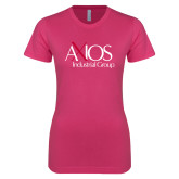 Next Level Ladies SoftStyle Junior Fitted Fuchsia Tee-AXIOS Industrial Group