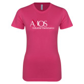 Next Level Ladies SoftStyle Junior Fitted Fuchsia Tee-AXIOS Industrial Maintenance