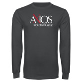 Charcoal Long Sleeve T Shirt-AXIOS Industrial Group