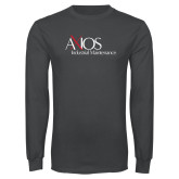 Charcoal Long Sleeve T Shirt-AXIOS Industrial Maintenance