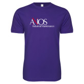 Next Level SoftStyle Purple T Shirt-AXIOS Industrial Maintenance