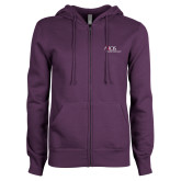 ENZA Ladies Purple Fleece Full Zip Hoodie-AXIOS Industrial Maintenance