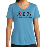 Ladies Syntrel Performance Light Blue Tee-AXIOS Industrial Group
