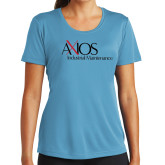 Ladies Syntrel Performance Light Blue Tee-AXIOS Industrial Maintenance