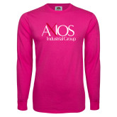 Cyber Pink Long Sleeve T Shirt-AXIOS Industrial Group