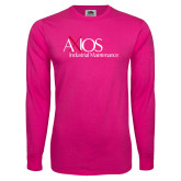 Cyber Pink Long Sleeve T Shirt-AXIOS Industrial Maintenance