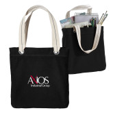 Allie Black Canvas Tote-AXIOS Industrial Group