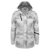 Ladies White Brushstroke Print Insulated Jacket-AXIOS Industrial Maintenance