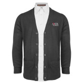 Charcoal V Neck Cardigan w/Pockets-AXIOS Industrial Group