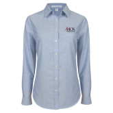Ladies Light Blue Oxford Shirt-AXIOS Industrial Group