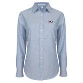 Ladies Light Blue Oxford Shirt-AXIOS Industrial Maintenance
