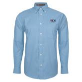 Mens Light Blue Oxford Long Sleeve Shirt-AXIOS Industrial Group