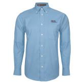 Mens Light Blue Oxford Long Sleeve Shirt-AXIOS Industrial Maintenance