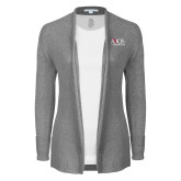 Ladies Heather Grey Open Front Cardigan-AXIOS Industrial Group