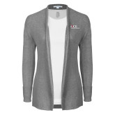 Ladies Heather Grey Open Front Cardigan-AXIOS Industrial Maintenance