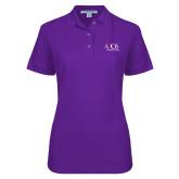 Ladies Easycare Purple Pique Polo-AXIOS Industrial Group