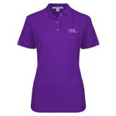 Ladies Easycare Purple Pique Polo-AXIOS Industrial Maintenance